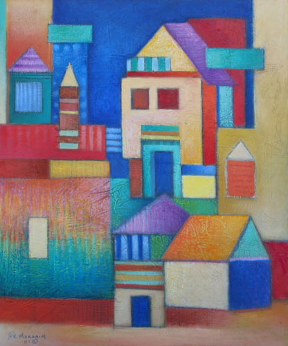 Paintings Of Houses With Acrylics